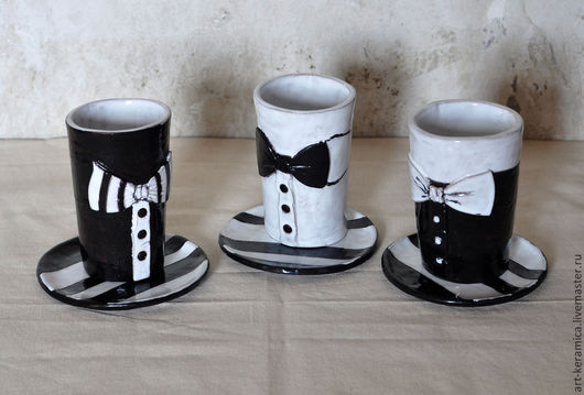 черно-белое  черная посуда  белая посуда  керамическая чашка  чайный сервиз  полосатая посуда  строгий стиль