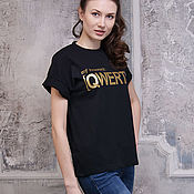 Одежда handmade. Livemaster - original item Beautiful women`s t-shirt