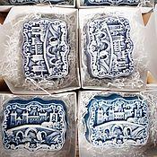 Косметика ручной работы. Ярмарка Мастеров - ручная работа ЗАСНЕЖЕННЫЙ ГОРОД сувенирное мыло. Handmade.