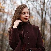 Одежда ручной работы. Ярмарка Мастеров - ручная работа Пальто Академическое бордово-коричневое. Handmade.