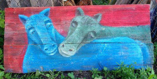 Животные ручной работы. Ярмарка Мастеров - ручная работа. Купить Лошадки. Handmade. Морская волна, любовь позитив счастье, подарок
