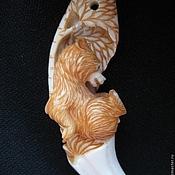 Фен-шуй и эзотерика ручной работы. Ярмарка Мастеров - ручная работа медвежонок в клыке медведя. Handmade.