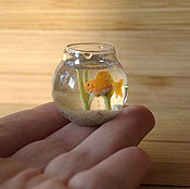 Куклы и игрушки ручной работы. Ярмарка Мастеров - ручная работа Аквариум (круглый) 1:12. Handmade.
