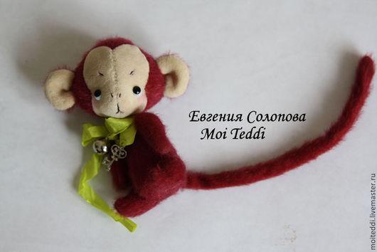 Мишки Тедди ручной работы. Ярмарка Мастеров - ручная работа. Купить Нанами. Handmade. Бордовый, авторская игрушка, подарок, синтепух