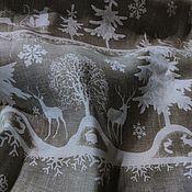 Скатерти ручной работы. Ярмарка Мастеров - ручная работа Скатерть льняная Сказочный лес, полулен. Handmade.