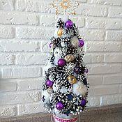 Подарки к праздникам ручной работы. Ярмарка Мастеров - ручная работа Ёлка из белых шишек. Handmade.