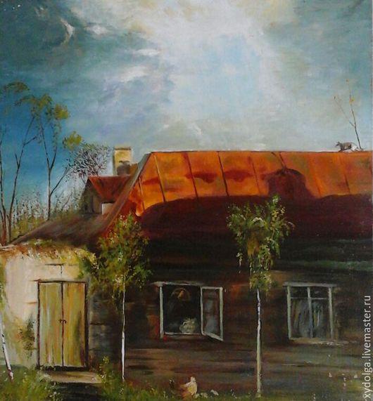 """Пейзаж ручной работы. Ярмарка Мастеров - ручная работа. Купить картина """"домик в деревне """"копия ,купить пейзаж маслом. Handmade."""