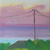 Картины и панно handmade. Livemaster - original item Picture. Abkhazia. Pink cloud. Handmade.
