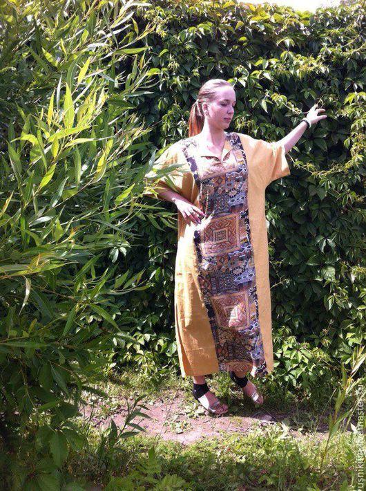 Платья ручной работы. Ярмарка Мастеров - ручная работа. Купить ПЛАТЬЕ Л002. Handmade. Комбинированный, белорусский лён