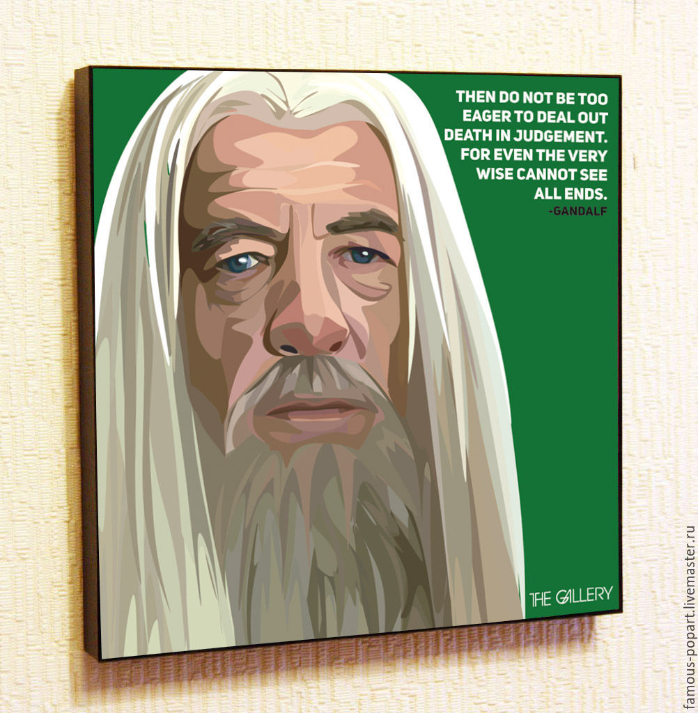 Painting Pop Art Gandalf Lord Of The Rings, Pictures, Moscow,  Фото №1