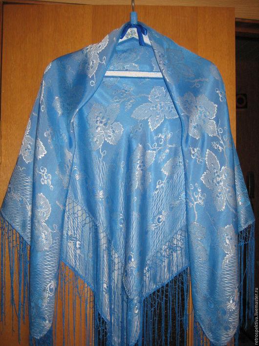 Шаль `Голубая`. Ярмарка Мастеров. Купить шаль винтаж.