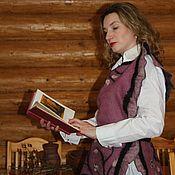 Одежда handmade. Livemaster - original item Vest felted wool Snow berries. Handmade.
