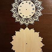 Часы классические ручной работы. Ярмарка Мастеров - ручная работа Заготовка для настенных часов. Handmade.