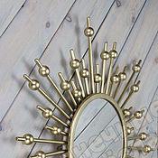 Для дома и интерьера ручной работы. Ярмарка Мастеров - ручная работа Зеркало интерьерное настенное Золотая астра. Handmade.