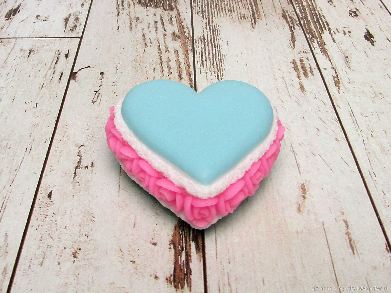 Silicone mold for soap and candles ' Macaroon HEART', Form, Arkhangelsk,  Фото №1