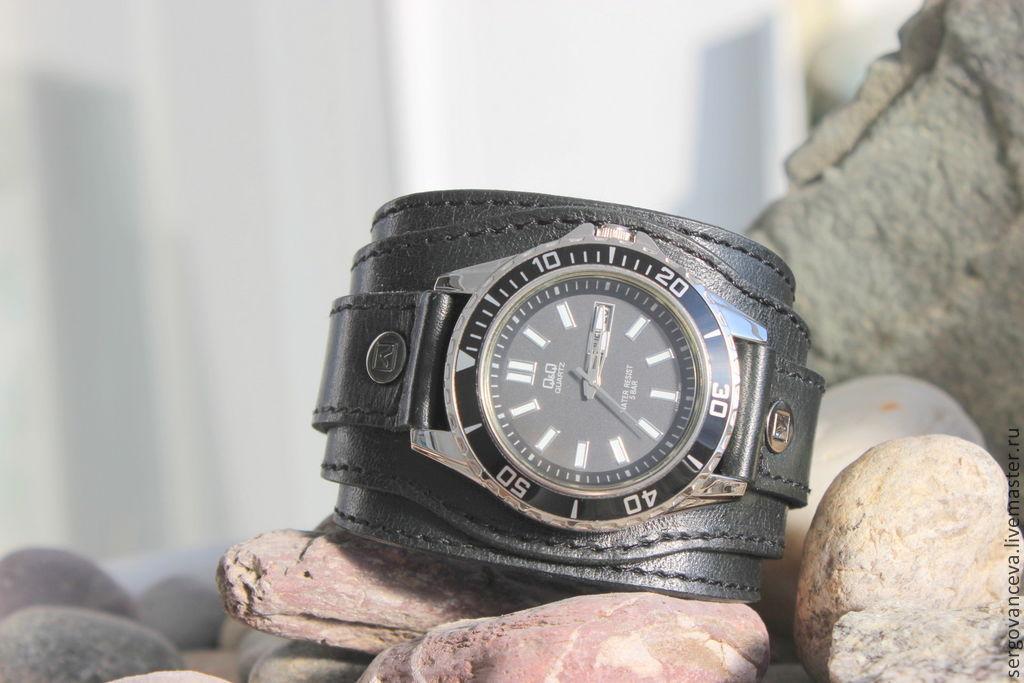 Как сделать часы с кожаным ремешком