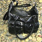 Сумки и аксессуары handmade. Livemaster - original item Tote: Lady`s bag made of genuine patent leather.. Handmade.