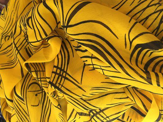 """Шитье ручной работы. Ярмарка Мастеров - ручная работа. Купить Крепжоржет """" Ах,этот модный желтый 4"""". Handmade. Желтый"""