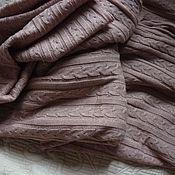 Пледы ручной работы. Ярмарка Мастеров - ручная работа Плед вязаный пудра шерсть со льном. Handmade.