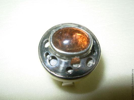 """Кольца ручной работы. Ярмарка Мастеров - ручная работа. Купить Кольцо """"Сфера"""" с медовым турмалином. Handmade. Медовый цвет"""