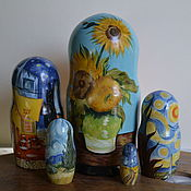 Русский стиль handmade. Livemaster - original item Dolls: Van Gogh Three sunflowers. Handmade.