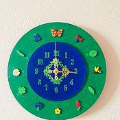 Часы ручной работы. Ярмарка Мастеров - ручная работа Часы Летний луг. Handmade.