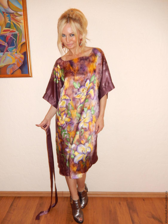 платье-кимоно- Лилии в шоколаде, Платья, Иваново, Фото №1