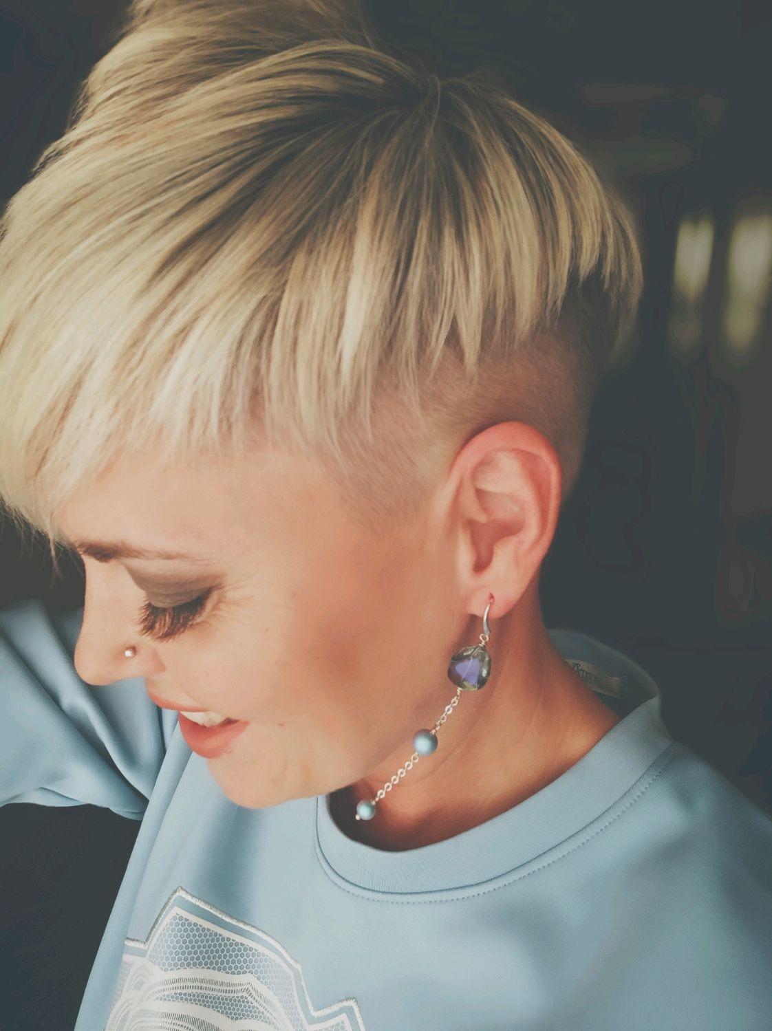 Swarovski crystal pearl earrings 'Aurora', Earrings, Omsk,  Фото №1