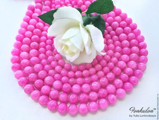 Для украшений ручной работы. Ярмарка Мастеров - ручная работа. Купить Жадеит Розовый Барби бусины Гладкие 8мм 10мм. Handmade.