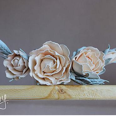 Свадебный салон ручной работы. Ярмарка Мастеров - ручная работа Цветочное украшение из фоамирана для прически. Handmade.