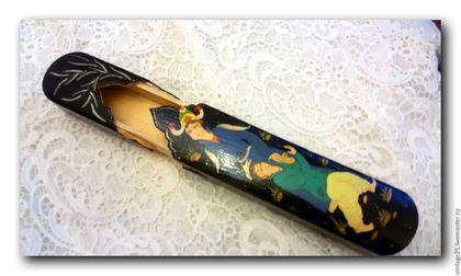 Винтажные предметы интерьера. Ярмарка Мастеров - ручная работа. Купить Авторский пенал для ручек или кистей ( в том числе и косметических). Handmade.