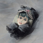 Brooches handmade. Livemaster - original item Sold Embroidered brooch-portrait of a