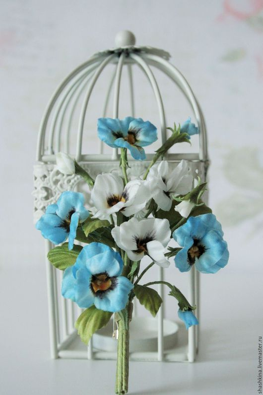 """Броши ручной работы. Ярмарка Мастеров - ручная работа. Купить Брошь из шелка """"Hearts Ease"""". Цветы из шелка, шелковые цветы. Handmade."""