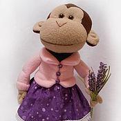 Куклы и игрушки ручной работы. Ярмарка Мастеров - ручная работа Обезьянка Лаванда 45 см. Handmade.