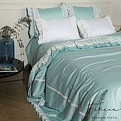 Для дома и интерьера handmade. Livemaster - original item Bed linen made of satin in retro style
