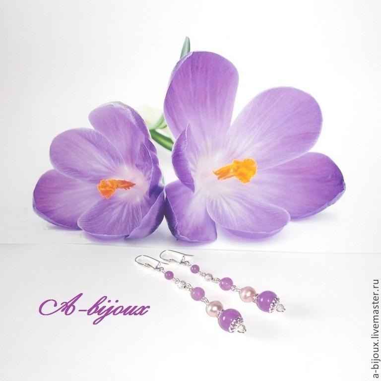 Earrings - Lavender #2, Earrings, Moscow,  Фото №1