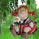 """Кухня ручной работы. Ярмарка Мастеров - ручная работа. Купить """"Маруся с ромашкой"""". Кукла на чайник. Handmade. Ярко-красный"""