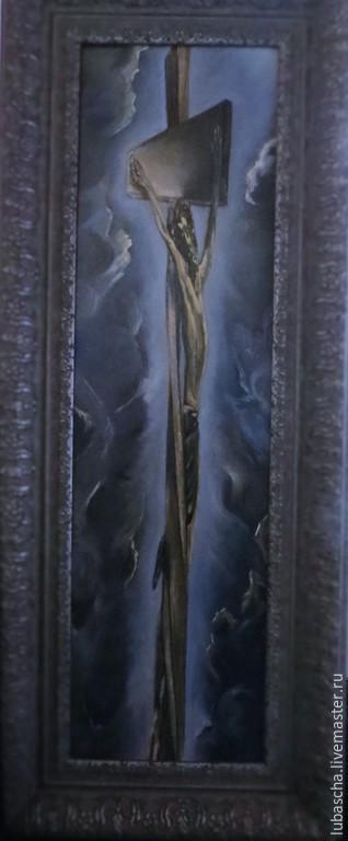 Пейзаж ручной работы. Ярмарка Мастеров - ручная работа. Купить На кресте. Handmade. Картина маслом на холсте, на кресте, масло