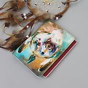 """Обложки ручной работы. Ярмарка Мастеров - ручная работа Обложка на паспорт """"Этно Волк"""". Handmade."""