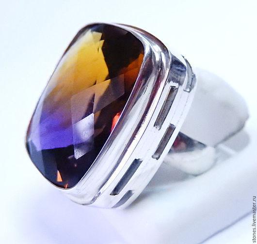 """Кольца ручной работы. Ярмарка Мастеров - ручная работа. Купить Кольцо """"ПАВЛИН"""", аметрин.. Handmade. Разноцветный, кольцо, хенд-мейд"""