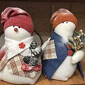 Куклы и игрушки ручной работы. Ярмарка Мастеров - ручная работа Снеговички-толстячки. Handmade.