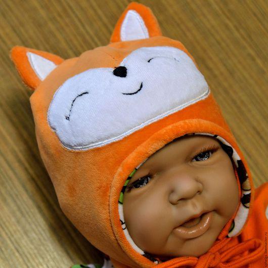 """Для новорожденных, ручной работы. Ярмарка Мастеров - ручная работа. Купить Шапочка для новорожденного малыша """"Лисичка"""". Handmade. Костюм для мальчика"""