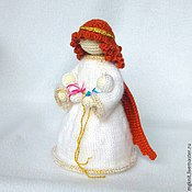 Куклы и игрушки ручной работы. Ярмарка Мастеров - ручная работа Ангел жизни. Ангел с младенцами вязаный. Handmade.