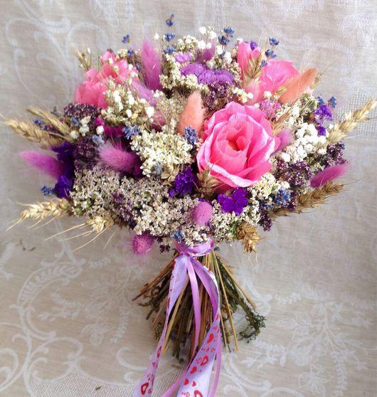 """Букеты ручной работы. Ярмарка Мастеров - ручная работа. Купить Букет """"Розовая мечта"""". Handmade. Букет, букет цветов, сухоцветы"""