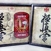 Картины и панно ручной работы. Ярмарка Мастеров - ручная работа Киокушинкай. Логотип клуба. Схема для бисера. Handmade.