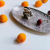Винтаж handmade. Livemaster - original item Vintage silver-plated Egg White Dish for Fruit, Nuts England. Handmade.
