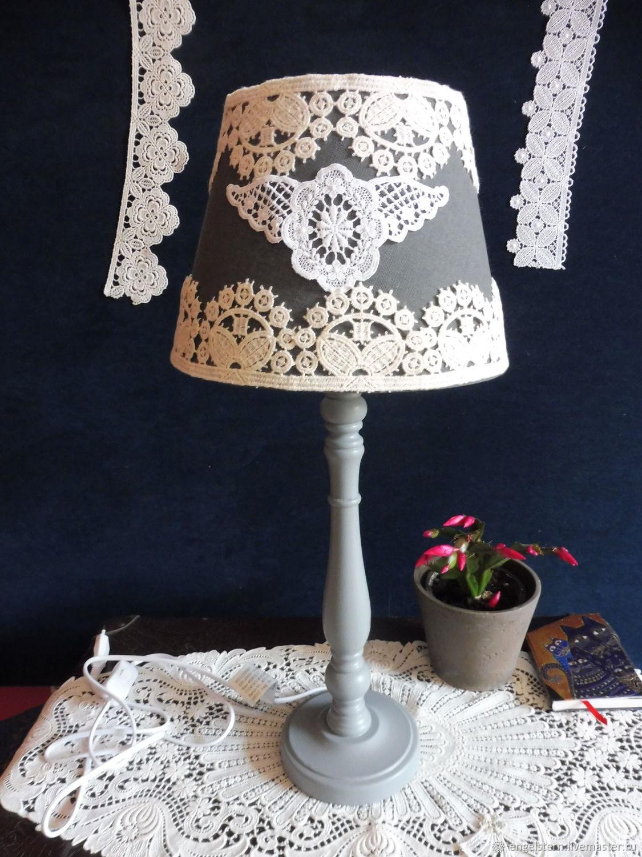 "Настольная лампа "" ""Кружевной медальон"" (антрацит), Ceiling and pendant lights, Gera,  Фото №1"
