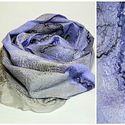Scarves handmade. Livemaster - original item scarf felted gray-purple. Handmade.
