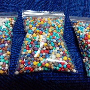 Materials for creativity handmade. Livemaster - original item Colored foam balls 0.3 cm.. Handmade.