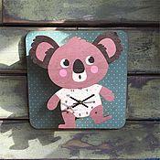 Для дома и интерьера ручной работы. Ярмарка Мастеров - ручная работа Детские настенные часы Коала. Handmade.